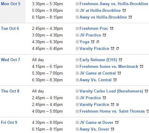 week of 10-05